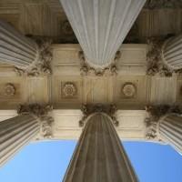Supreme court columns Washington DC usa